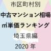50地域別【中古マンション相場 ㎡単価ランキング&マップ】埼玉県編 2020年のアイキャッチ画像