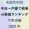 53地域別【中古一戸建て相場 ㎡単価ランキング&マップ】千葉県編 2020年のアイキャッチ画像