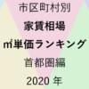 211地域別【家賃相場 ㎡単価ランキング&マップ】首都圏編 2020年