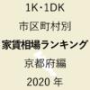 24地域別【1K・1DK 家賃相場ランキング&マップ】京都府編 2020年のアイキャッチ画像