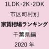 46地域別【1LDK 家賃相場ランキング&マップ】千葉県編 2020年のアイキャッチ画像