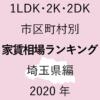 57地域別【1LDK 家賃相場ランキング&マップ】埼玉県編 2020年のアイキャッチ画像