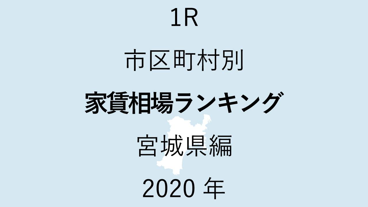 10地域別【1R 家賃相場ランキング&マップ】宮城県編 2020年のアイキャッチ画像