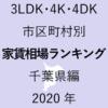 30地域別【3LDK 家賃相場ランキング&マップ】千葉県編 2020年