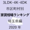 43地域別【3LDK 家賃相場ランキング&マップ】埼玉県編 2020年のアイキャッチ画像