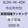 48地域別【3LDK 家賃相場ランキング&マップ】東京都編 2020年のアイキャッチ画像