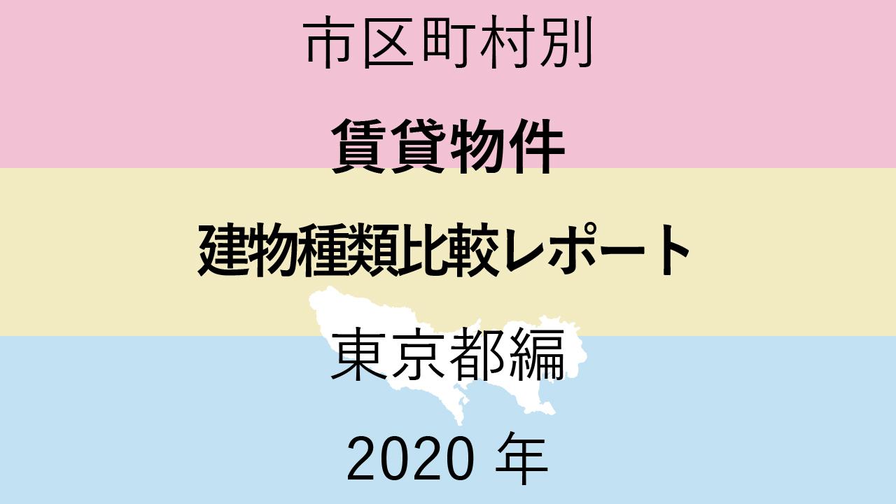 市区町村別【賃貸物件 建物種類比較レポート】東京都編 2020年のアイキャッチ画像