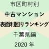 34地域別【中古マンション 表面利回りランキング&マップ】千葉県編 2020年