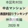 50地域別【中古マンション 表面利回りランキング&マップ】神奈川県編 2020年