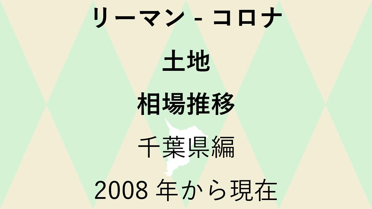 最新【土地 相場推移】千葉県編 リーマンショックからコロナショック後まで
