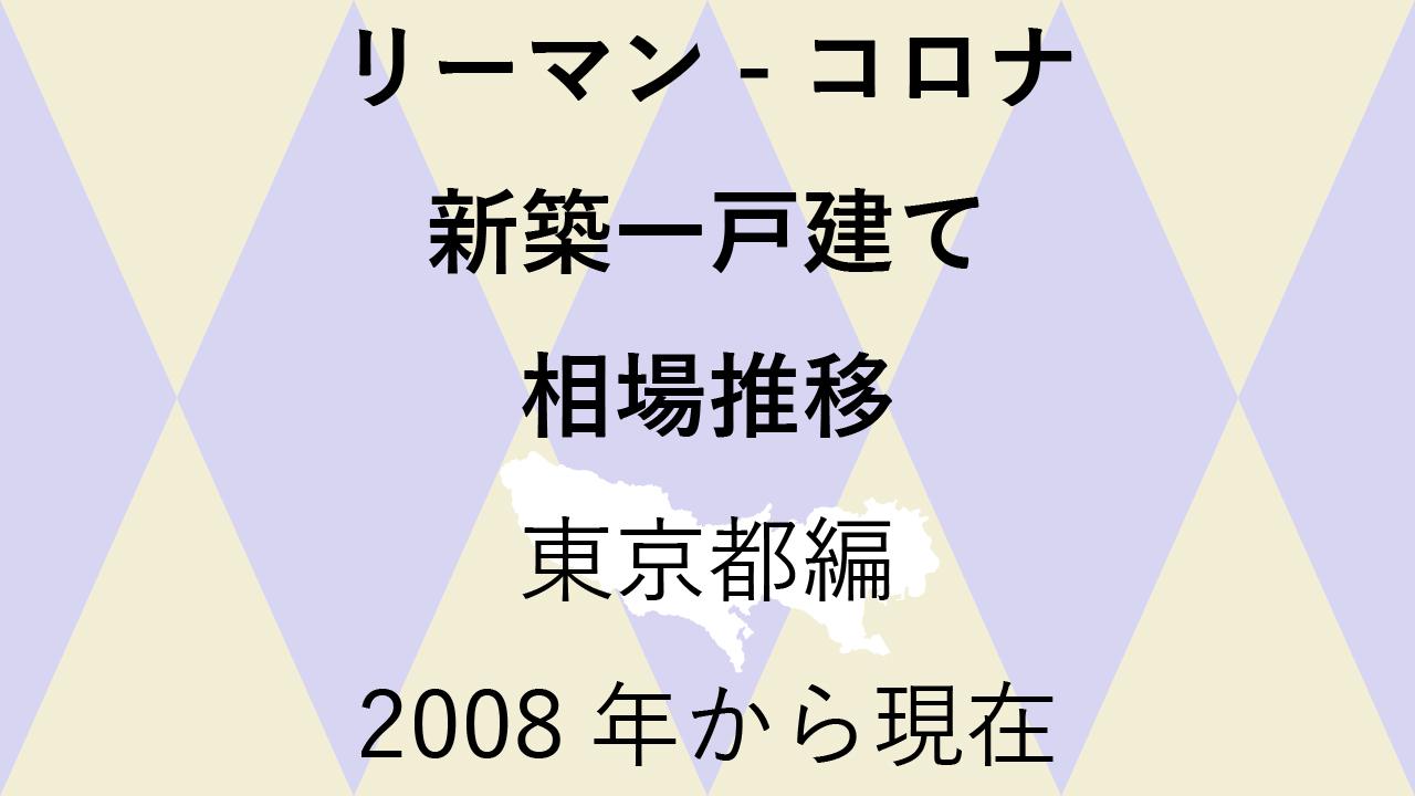最新【新築一戸建て 相場推移】東京都編 リーマンショックからコロナショック後まで