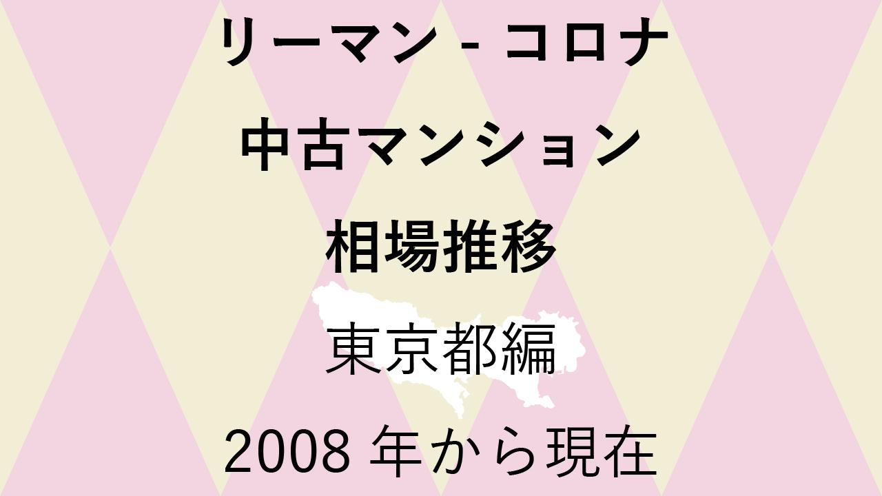リーマンショックからコロナショック【中古マンション 相場推移】東京都編 2020年のアイキャッチ画像