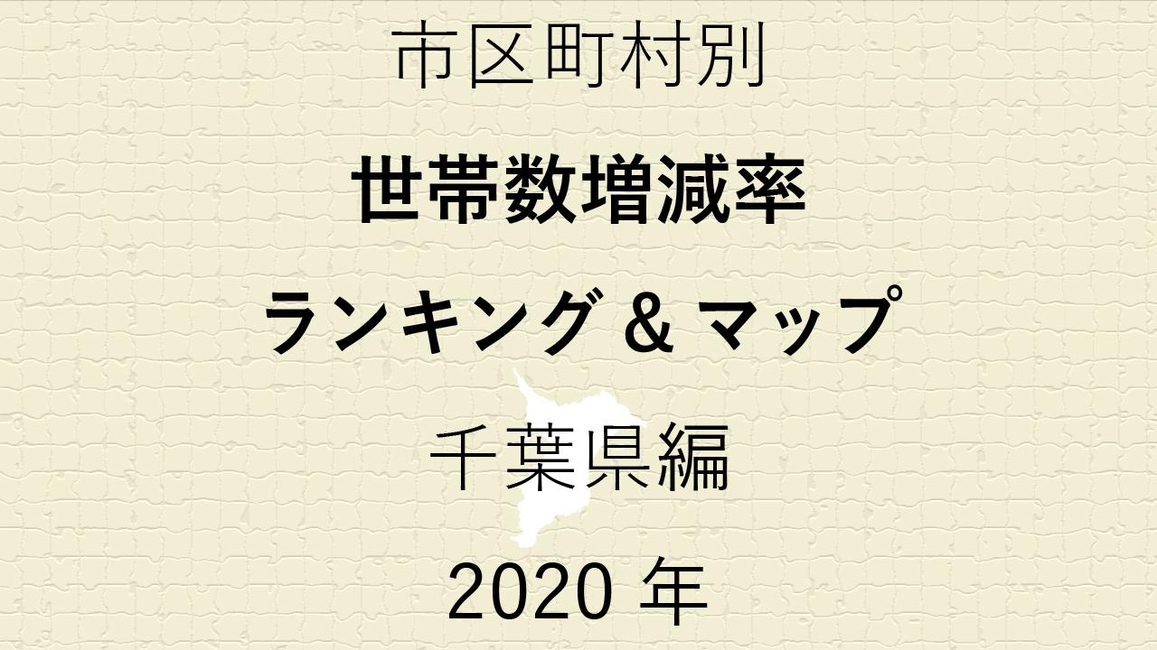 59地域別【世帯数増減率ランキング&マップ】千葉県編 2020年のアイキャッチ画像