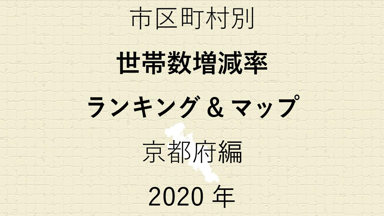 36地域別【世帯数増減率ランキング&マップ】京都府編 2020年のアイキャッチ画像