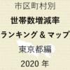 53地域別【世帯数増減率ランキング&マップ】東京都編 2020年のアイキャッチ画像