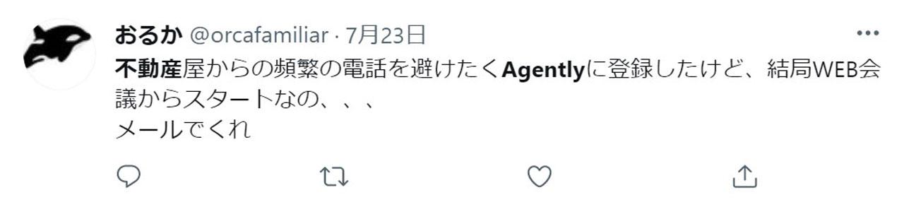 Agentlyのネガティブな評判1